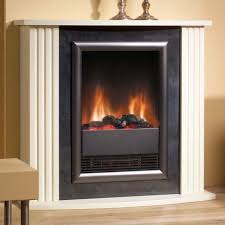 contemporary electric fireplace around cream painted wall decor
