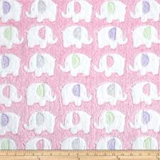 Pink Home Decor Fabric Minky Snuggle Fleece Elephant Pink From Fabricdotcom This Double