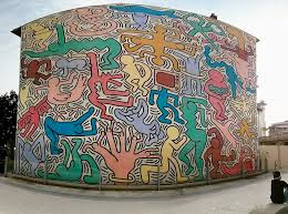 i painted a mural with keith haring in pisa