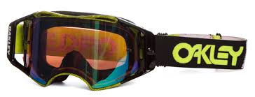 oakley new mx airbrake high oakley goggle airbrake mx factory pilot thumbprint green prizm