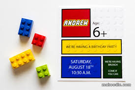 lego invitation makoodle