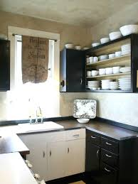decor enchanting black and white kitchen cabinets for nice
