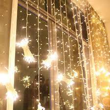 string window fairy light twinkling star curtain lignting wedding