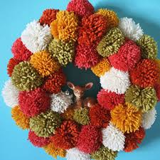 fall wreaths creative fall wreaths pumpkins pom poms more