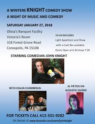 night light coraopolis menu tickets for a winter s knight comedy show in coraopolis from showclix