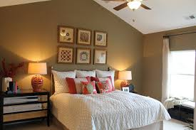 minimalist cathedral ceiling bedroom with pastel colors nice