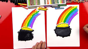 how to draw a pot of gold art for kids hub
