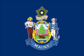 Michigans State Flag Maine State Flag Flagnations