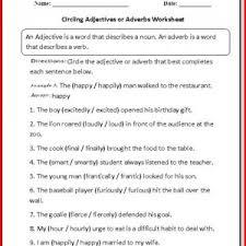 adjective worksheets 1st grade kristal project edu hash
