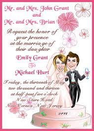 Wedding Card Examples Wedding Invitation Wording U0026 Etiquette Designmantic