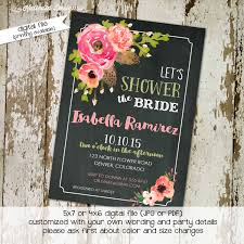 floral bridal shower rustic chic feathers evite baby shower