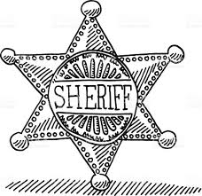 sheriff star badge drawing stock vector art 467714123 istock