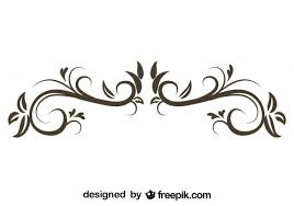 floral decorative ornament retro stylish design vector free