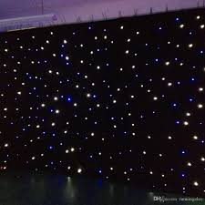 star curtain string lights wedding backdrop curtains velvet led