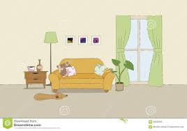 cozy living room illustration stock vector image 59583363