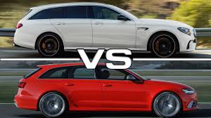 2018 mercedes amg e63 s estate vs audi rs6 avant youtube