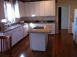 kitchen dark wood floor white cabinets beautiful home design