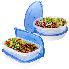 Potato Storage Container Kitchen Meal Prep Haven 3 Compartment Food Storage Containers With Lids