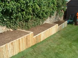 creative of wooden raised flower beds using logs veggie garden