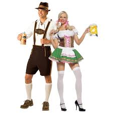 halloween costume maid oktoberfest beer couple bartenders maid halloween costume party