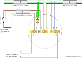 one way lighting circuit wiring diagram diagram wiring diagrams