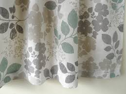 white gray cafe curtain kitchen valance linen natural
