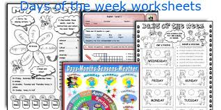 english teaching worksheets days of the week