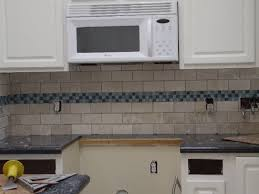 accent tiles for kitchen backsplash kitchen backsplash white subway tile with blue accent tiles