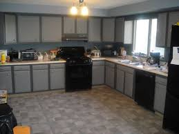 creative of modern kitchen with black appliances gray kitchen