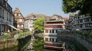 province france petite france and canal in strasbourg alsace province of france