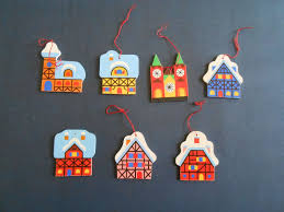 7 vintage w german heller wooden flat ornaments free