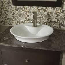 Colored Bathroom Sinks American Standard Circular Vessel Bathroom Sink With Overflow