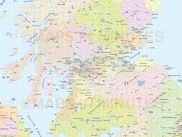 digital vector british isles uk map county administrative