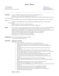 Sample Developer Resume Sample Resume For Entry Level Database Developer Augustais
