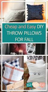 Fall Decorative Pillows - cheap and easy diy throw pillows for fall