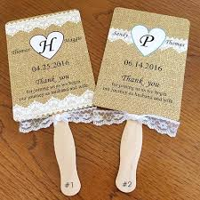 wedding ceremony fans burlap and lace wedding fan ceremony fan rustic assembled by