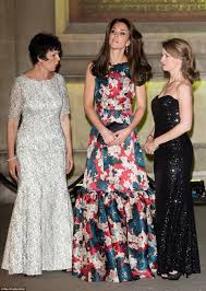 kate middleton dresses kate middleton wears erdem dress to 100 women in hedge funds
