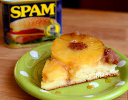 hawaiian spam and pineapple upside down cake baking bites