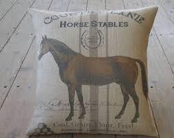 horse pillow etsy