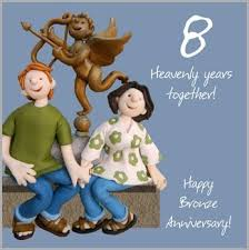 8th wedding anniversary card by holy mackerel co uk