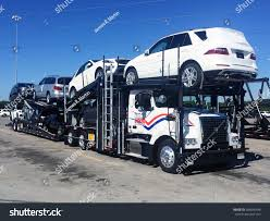 car carrier truck vance almay 2015 mercedes benz vehicles stock photo 284836448