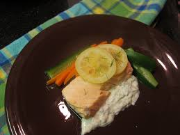 poached salmon with piquant sauce and veggies u2013 phenomenal