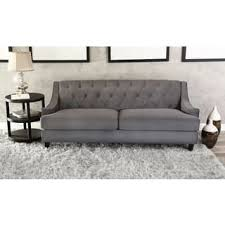 tufted gray sofa grey sofas couches for less overstock