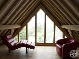 loft conversion open plan ground floor timber frame loft conversion with glazed gable end by carpenter