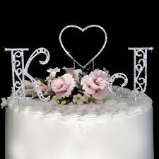 crystal cake topper crystal heart wedding cake toppers crystal