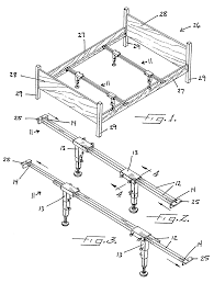 bed frame support system patent us7231676 cross rail support system for a bed frame with