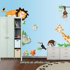 zooyoo cartoon animals wall sticker for baby kid room decoration zooyoo cartoon animals wall sticker for baby kid room decoration jungle animal stickers