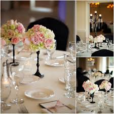 country centerpieces duck woods country club wedding blush ivory black centerpieces