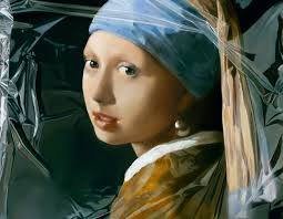 girl pearl earing artwork girl with a pearl earring in plastic tjalf sparnaay
