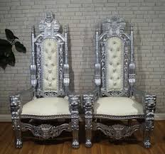 his and hers wedding chairs thrones finishing touches wedding hire